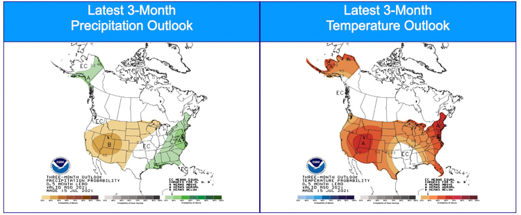 90-day Precipitation and Temperature outlook-