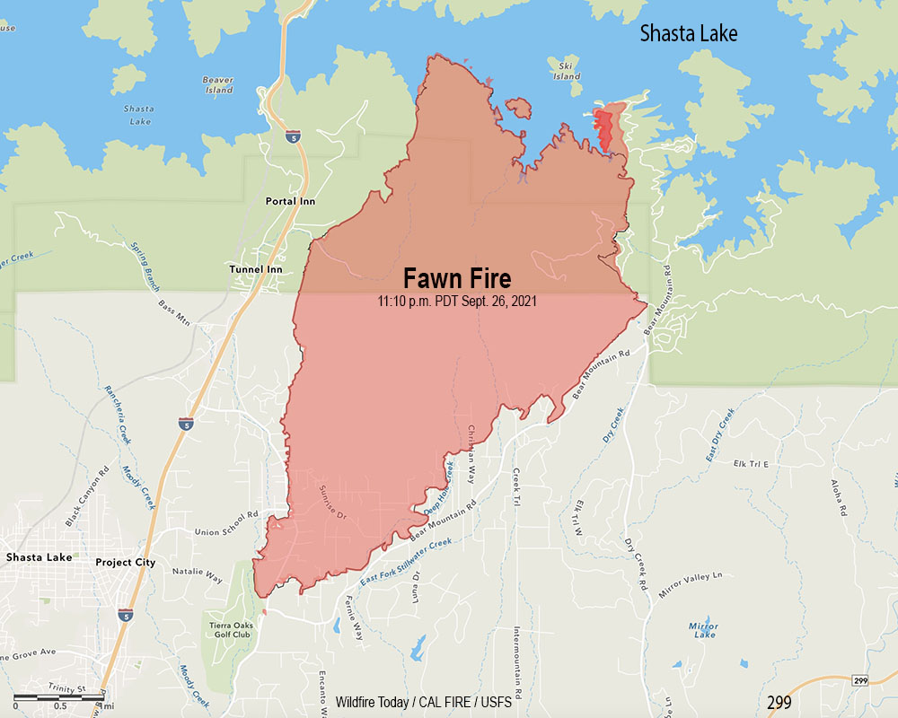 Fawn Fire map
