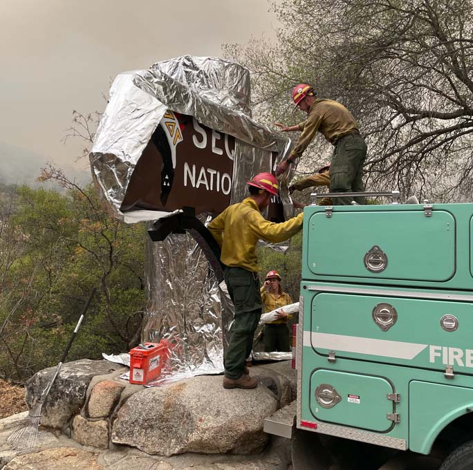 Protecting the Sequoia National Park sign