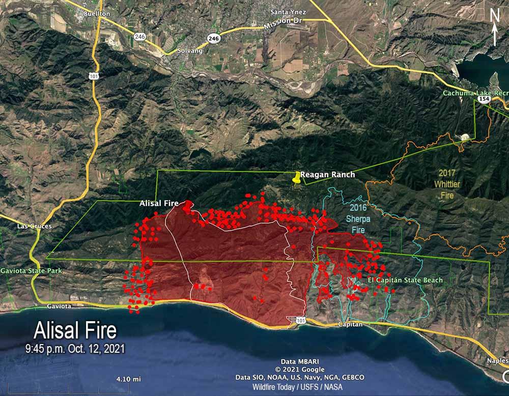 Alisal Fire map