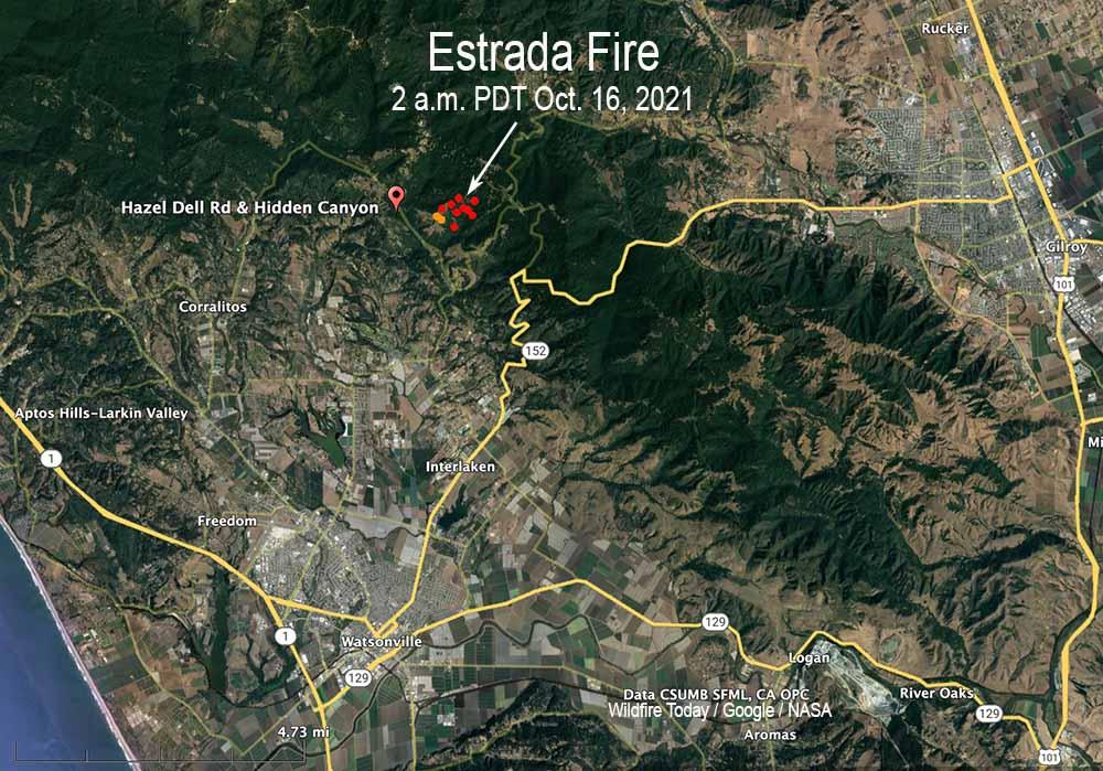 Estrada Fire map